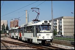 1151-1992-07-24-1-Südstadt (steffenhege) Tags: hallesaale tram tramway strasenbahn streetcar t4d t4dc prototyp ckd 1151 havag