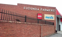 Gawler. The rear of the former Eudunda Farmers Cooperative Store in Murray Street. Now a  bargain shop called Neds.