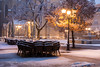 Winter in the city (pietkagab) Tags: novisad vojvodina old town city cathedral snow snowy snowing winter serbia balkans balkan morning cafe chairs square europe european travel trip tourism twilight sightseeing pietkagab photography pentax piotrgaborek pentaxk5ii