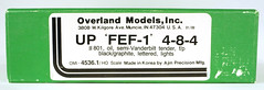 Overland Models 4536.1 Union Pacific FEF-1 4-8-4 801 HO Scale (Twin Ports Rail History) Tags: usa jeff lemke trains inc brass model train service pro professional custom painting repairs weathering railway railroad paint ho scale omi overland models union steam locomotive factory painted up pacific