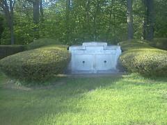 ENGLAND-William.Nell-mausoleum-Monticello, IL-c 1941 (RLWisegarver) Tags: piatt county history monticello illinois usa il