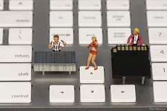 Keyboard band (Eugene Lagana) Tags: rock roll band music keyboard surreal apple macintosh sing singing song xylophone woodland scenic ho scale small mini 187 macro nikon