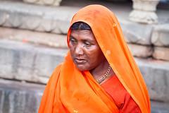.. Woman on Ghats .. Varanasi (geolis06) Tags: geolis06 asia asie inde india uttarpradesh varanasi benares gange ganga ghat inde2017 olympus hindu hindou portrait banaras