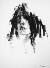 P1017508 (Gasheh) Tags: art painting drawing sketch portrait girl charcoal gasheh 2018