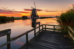 Windmill @ The Netherlands (Marcel Tuit | www.marceltuit.nl) Tags: 1635f4 6d alblasserwaard ammerscheboezem boezem canon eos holland landscape landschap me marceltuit mill molen nederland thenetherlands clouds colors contactmarceltuitnl geel jetty kleuren morgenstond morning nature natuur netherlands orange oranje outdoor red reed reflecties reflections riet rood steiger sunrise water windmill windmolen wolken wwwmarceltuitnl yellow zonsopgang