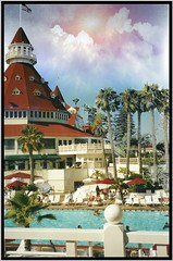 Hotel del Coronado ~ Film  1990's ~ Coronado California (Onasill ~ Bill Badzo - 56 Million Views - Thank Yo) Tags: hotel del coronado resort ca architecture style victorian queen anne historic nrhp landmark california national us onasill chisl flickr outdoor photo border vintage old palm trees pool sky clouds sunset