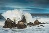 Explosión... (Efren SL) Tags: mar ola azul salinas asturias nubes rocas