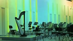 The Harp (kaprysnamorela) Tags: philharmonia instrument screen kielce poland samsung light geometry lines blue music