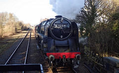 Great Central Loughborough Railway Quorn Leicestershire 28th December 2017 (loose_grip_99) Tags: great central loughborough railway leicestershire greatcentral quorn december 2017 steam engine britishrailways standard 9f 2100 92214 eastmidlands england uk preservation transportation gassteam uksteam passing trains railways