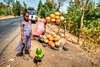 Girl selling Papaya and pupkin  on the side of the road, Ethiopia (CamelKW) Tags: ethiopia2017 girl selling papaya pupkin road ethiopia