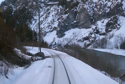 RhB Ruinaulta - Rockfall