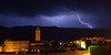 Zap! (pdxsafariguy) Tags: thunderstorm boumalnedades morocco storm lightning night africa building town skyline mosque minaret weather sky dark cloud thunderbolt rain tomschwabel