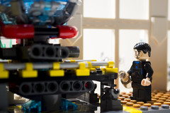 """Tony Stark built this in a cave! With a box of scraps!"" (Jam Pot Studios) Tags: lego iron man tony stark marvel industries robert downey jr arc reactor malibu mansion cinematic universe"