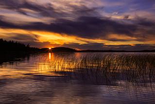 Middle Saranac Lake Sunset