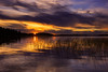 Middle Saranac Lake Sunset (phonnick) Tags: saranaclake middlesaranaclake saranac lake adirondacks newyorkstate newyork water trees landscape sunset clouds sky grass canon6d canon 6d