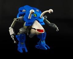 Ch'mm Tg'lk (Prhymus) Tags: lego moc bionicle alien pikmin legomoc bioniclemoc ben10 herofactory blue robot