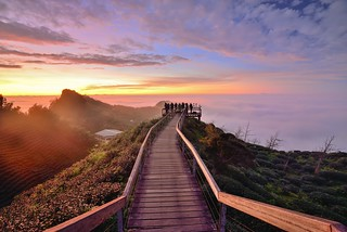 Sunset at Mountain Dalun 大崙山