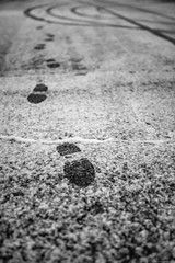 Footsteps in the snow (Mario Ottaviani Photography) Tags: sony sonyalpha italy italia travel adventure nature scenic exploration view vista breathtaking tranquil tranquility serene serenity calm marioottaviani viaggio avventura natura esplorazione bergamo snow neve snowing cold freddo footsteps orme asfalto asphalt