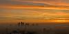 Rising above the fog! London sunrise. (dezzouk) Tags: fog canarywharf sunrise london