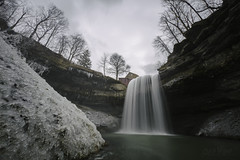December at the Mill (wilbias) Tags: waterfall river decew falls long exposure ultra wide angle morning star morningstar mill st catharines ontario canada