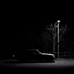 Iniquity Worker (Barnaby Nutt) Tags: mercedes benz w124 dark street light long exposure