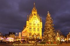 Fijne Kerstdagen  / Merry Christmas ! (PeterBrabant) Tags: kerst stadhuis gouda