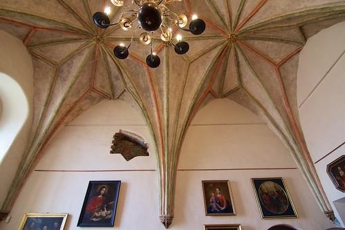 Fragment sklepienia Sali Audiencyjnej w zamku biskupim w Lidzbarku Warmińskim