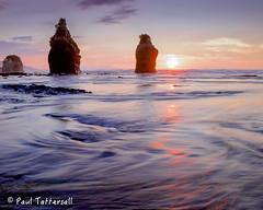 Long exposure of sunset at Tongaporutu (Paulyt_10) Tags: beach sunset taranaki newzealand