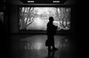 delayed flight (gguillaumee) Tags: film analog grain bw blackandwhite man lonely silhouette airport dark contrast leicam7 summicron50mm kodaktrix casablanca morocco noir mood