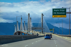 Golden Ears Bridge (SonjaPetersonPh♡tography) Tags: goldenearsbridge bridge span pittmeadows fraserriver communities langley crossing traffic bc britishcolumbia canada nikon nikond5200 cars vehicles travel