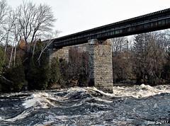 ... (Jean S..) Tags: bridge water river outdoors trees waves november