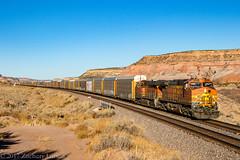BNSF 4853 West: Lupton, Arizona (Z-Trains) Tags: bnsf arizona seligman subdivision sub apache railroad apacherailroad seligmansubdivision northernarizona trains train alco mlw c420 c424
