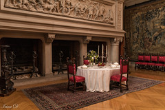 Celebrate the New Year with style (Irina1010) Tags: table set fireplace candle chairs tapestry elegant stylish biltmoreestate celebration dining canon outstandingromanianphotographers