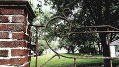 M Kirby Hosp (Allen F. Moore Estate) c1912 Brick Fence, 1111 N. State St, Monticello, IL 20170731-14 (RLWisegarver) Tags: piatt county history monticello illinois usa il