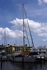 A SAIL BOAT IN COLOR (R. D. SMITH) Tags: canoneos7d clouds water sailboat sky dock bay