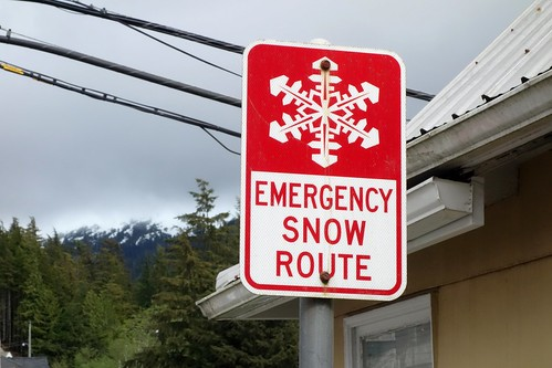 Emergency Snow Route (Ketchikan, Alaska, USA)