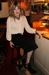 Quiet Evening (Amber :-)) Tags: black pencil skirt tgirl transvestite crossdressing