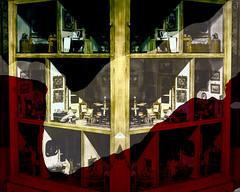 Casa de muñecas (seguicollar) Tags: imagencreativa photomanipulación art arte artecreativo artedigital virginiaseguí juguetes casamuñecas muebles miniaturas muñecos sillasmesas cuadros habitaciones casa