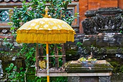 Ubud Palace, Ubud, Bali (M_Hauss) Tags: indonesien indonesia asia asien ubud palace palast temple tempel architecture architektur offerings bird