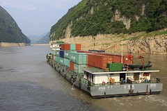 Yi Chang Gang (oxfordblues84) Tags: peoplesrepublicofchina china victoriacruises victoriajenna victoriajennacruise yangtzerivercruise yangtzeriver oat overseasadventuretravel threerivergorge scenicrivercruise riverboatcruise rivercruise ship containership containers container containervessel vessel river water yichanggang sky cloudy clouds