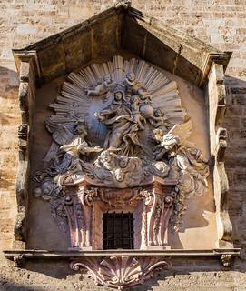 Facade (Virgin of the Rosary) Iglesia Santos Juanes (Church of St Johns) Valencia (Fujifilm X100F 23mm f2 Compact) (1 of 1)