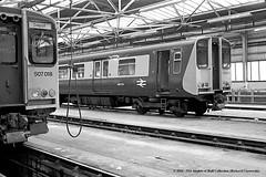 06/02/1982 - Birkenhead North (BD) depot. (53A Models) Tags: britishrail class507 507018 class508 508043 emu electric passenger birkenheadnorth bd depot thewirral train railway railroad locomotive