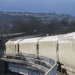 Catching the sunlight at Swansea, south Wales: Great Western Railway High Speed Train (HST) thumbnail