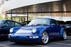 Porsche 911 (964) 3.6 Turbo (Jeff_B.) Tags: cars car exotic classic automobile carsandcroissants newjersey paulmiller carsandcaffe caffe bergen carshow coffee carsandcoffee 964 911 turbo blue bluecar porsche porsche911 porsche964 porsche964turbo