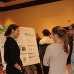 Students presenting their research at the Student Symposium on the Environment Symposium