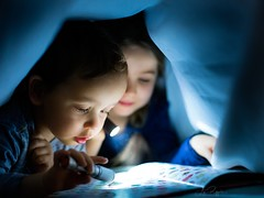 No time for sleeping (agirygula) Tags: sleeping time bedtime story book lights blue kids childhood children reading schaumburg