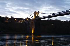 6255 Pont Grog y Borth reflections (Andy - Busy Bob) Tags: bbb bluehour bridge menaibridge menaistraits menaisuspensionbridge mmm pontgrogyborth ppp seawater sss water www