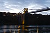 6255 Pont Grog y Borth reflections (Andy - Tak'n a breever) Tags: bbb bluehour bridge menaibridge menaistraits menaisuspensionbridge mmm pontgrogyborth ppp seawater sss water www