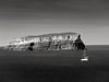 Navegando sin viento (Bonsailara1) Tags: santorini grecia greece isla island bw sail sailing boat sailboat sea navegando bote velero
