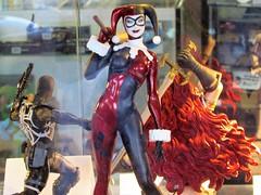 Harley Quinn (thomasgorman1) Tags: dc comics figure figurine supervillain superhero canon harleyquinn window display street streetphotos